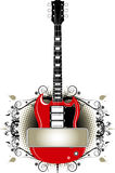 Grunge Guitar Design Stock Photography