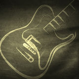Grunge guitar, grunge music Royalty Free Stock Images