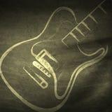 Grunge guitar, grunge music Stock Image