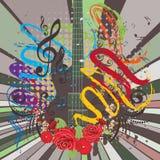 Grunge Guitar Illustration Royalty Free Stock Photography