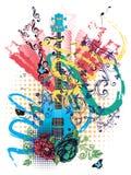 Grunge Guitar Illustration Stock Photos