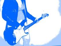 Grunge guitarist Stock Image