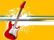 Grunge guitars. Guitar on grungy background abstract backgrouds Stock Image