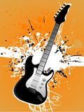 Grunge guitars. Guitar on grungy background abstract background Stock Photo