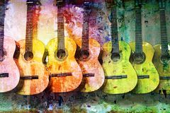 Grunge guitars stock illustration