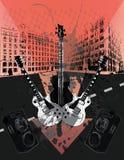 Grunge Guitars Royalty Free Stock Photo