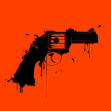 Grunge gun. Abstract art illustration Stock Images