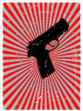 Grunge gun danger red glowing vector background Royalty Free Stock Photos