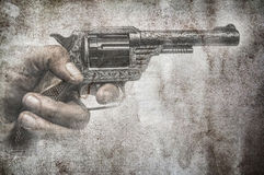 Grunge gun Royalty Free Stock Photography