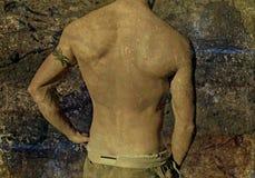 grunge guy tattoo στοκ εικόνα
