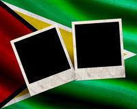 Grunge Guyana flag Stock Images