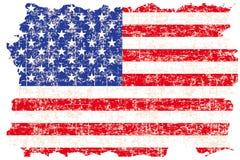 Grunge ha danneggiato la bandiera americana royalty illustrazione gratis
