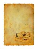 Grunge ha intagliato la cartolina con le uova a Pasqua illustrazione di stock