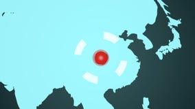 Grunge ha macchiato il programma del mondo illustrazione vettoriale