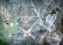 Grunge ha verniciato la parete del metallo Fotografie Stock Libere da Diritti