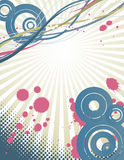 Grunge halftone background Stock Images