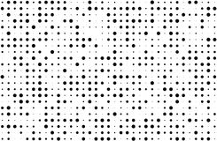 Grunge halftone background. Digital gradient. Dotted pattern with circles, dots, point small and large scale. Design element for web banners, posters, cards Stock Photo