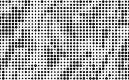 Grunge halftone background. Dotted pattern. Abstract futuristic panel. Minimal design. Vector illustration stock illustration