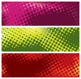 Grunge halftone banners royalty free illustration