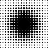 Grunge halftone black and white background. Vector illustratoin with halftone dots texture for popart, trends design.  Royalty Free Stock Photo