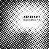 Abstract background with halftone effect. Grunge halftone dots vector texture background. Border frame stock illustration