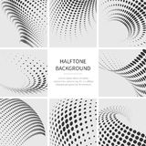 Grunge halftone dotted abstract vector backgrounds set Royalty Free Stock Photo