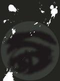 Grunge halftone eye on black Royalty Free Stock Photo