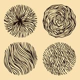 Grunge halftone hand drawn textures set Royalty Free Stock Photos