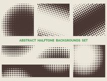 Grunge halftone patterns set Royalty Free Stock Images