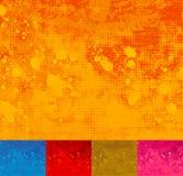 Grunge Halftone Splattered Background. Stock Photos