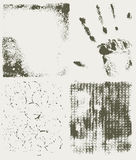 Grunge halftone textures Stock Photography