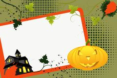Grunge halloween background Stock Images