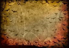 Grunge halloween background. Retro card Royalty Free Stock Photo