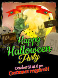 Grunge Halloween background. EPS 10 Royalty Free Stock Photo