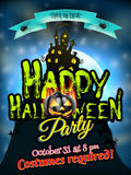 Grunge Halloween background. EPS 10. Grungy Halloween background with haunted house, bats and full moon. EPS 10 vector file included Stock Photos