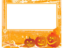 Grunge halloween background with frame Stock Photography