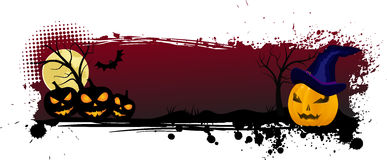 Grunge halloween background with pumpkins Royalty Free Stock Photo