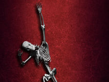 Grunge Halloween background with skeleton Stock Photography