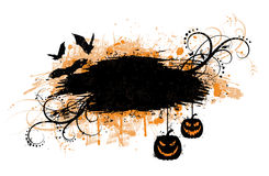 Grunge halloween banner. Royalty Free Stock Image