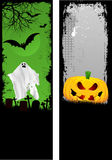 Grunge Halloween banners Royalty Free Stock Photography