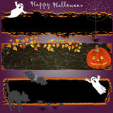 Grunge Halloween banners. Royalty Free Stock Photos