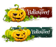 Grunge halloween banners Stock Photo