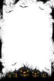 Grunge Halloween black frame stock illustration