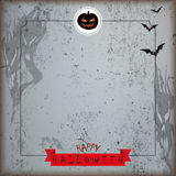 Grunge Halloween Brochure Flyer Concrete Ribbon Royalty Free Stock Image