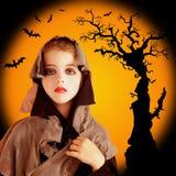 grunge halloween för barnklänningflicka Royaltyfria Bilder