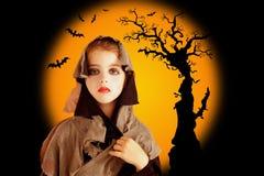 grunge halloween för barnklänningflicka Royaltyfria Foton