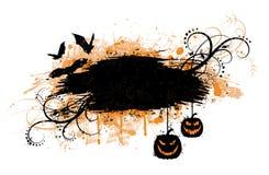 Grunge Halloween Fahne. Lizenzfreies Stockbild