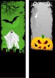 Grunge Halloween Fahnen stock abbildung