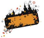 Grunge Halloween Feld Stockbild