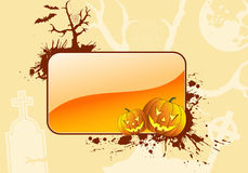Grunge Halloween frame Royalty Free Stock Image